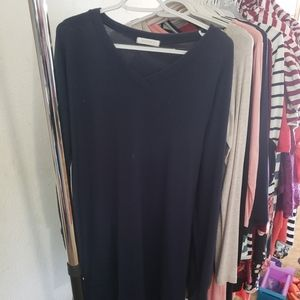 Navy blue tunic sweater